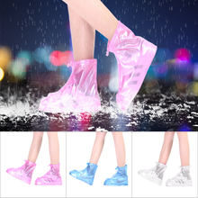 Anti-Slip Waterproof Rainproof PVC Protection Rain Shoe Cover Middle Tube Reusable Rain Cover Shoes Boot for Men Women Overshoes 1pairs pvc waterproof rain high heels shoes cover women rain boots rainproof slip resistant overshoes shoes covers