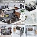 Стеллаж для посуды из алюминиевого сплава кухонный Органайзер хранилище сушилка для посуды полка для раковины нож и контейнер для вилок