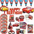 Disney Cars детский день рождения, день рождение мальчика вечерние поставки одноразовая посуда тарелка карточка чашка Baby Shower вечерние украшения