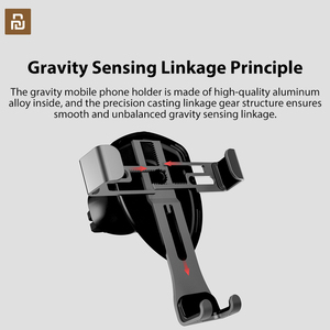 Image 2 - Xiaomi COOWOO Smart Car Bracket Clip Mobile Phone Holder Gravity Sensor One handed Operation for 4.7/5.5 /6 Inches Phones