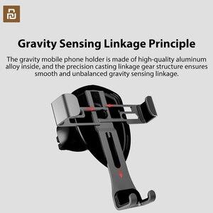 Image 2 - Xiaomi COOWOO akıllı araba braketi klip cep telefonu tutucu yerçekimi sensörü tek elle kullanım için 4.7/5.5 /6 inç telefonlar