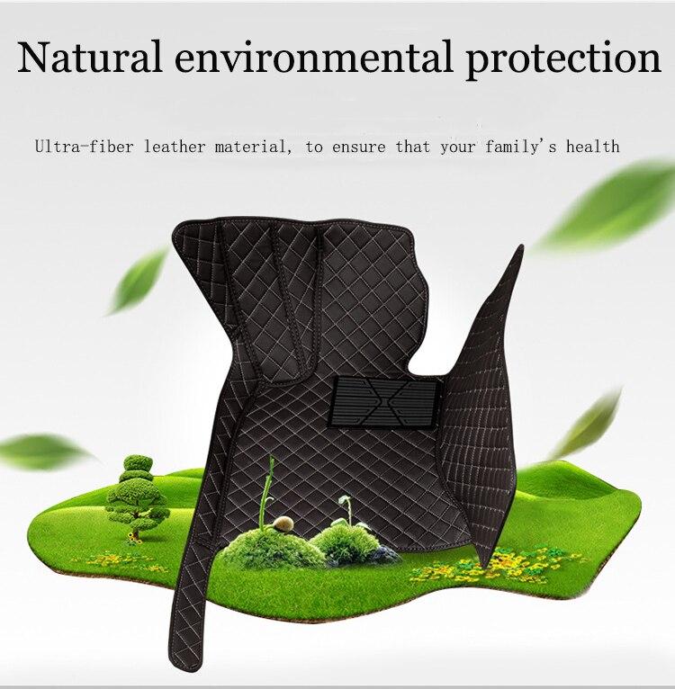 custom car floor mats for hyundai i40 santa fe getz tucson solaris creta elantra kona leather all models car mats accessories