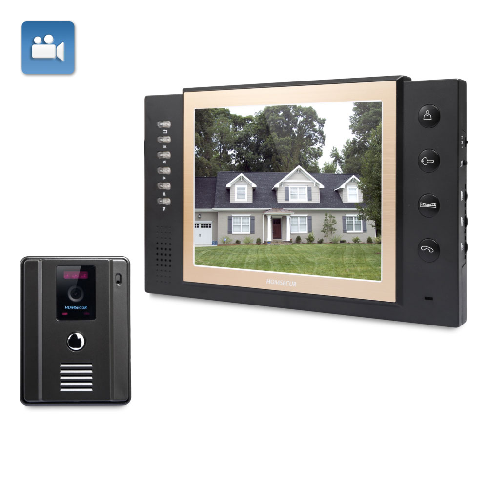 EU Delivery HOMSECUR 8 Wired Video&Audio Smart Doorbell Snapshot+One Button Unlock 1C1M TC011 B / TC011 W+TM801R B
