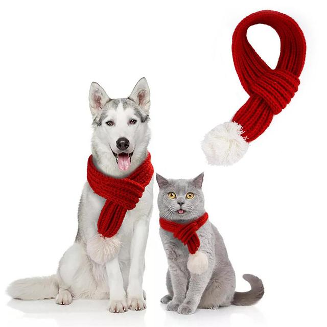 Dog & Cat  Christmas Scarf