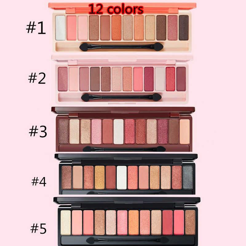 1 Pza pigmentos de brillo color marrón Nude brillo paleta de sombra de ojos mate maquillaje resistente al agua sombra de ojos brillo maquillaje de ojos TSLM1