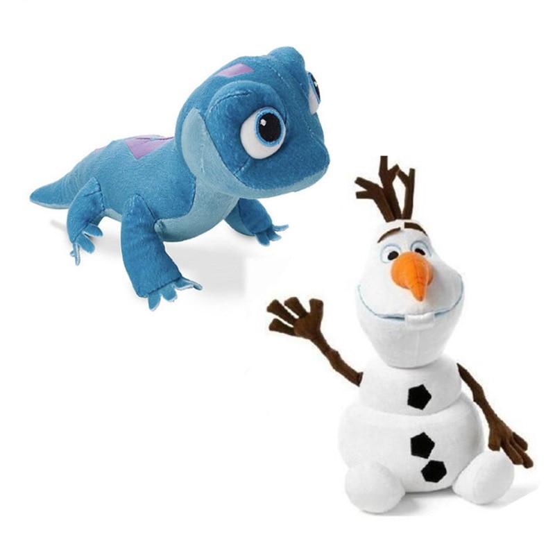 Disney Frozen Snowman Olaf NEW Fire Lizard Fever Fire Elves Anna Elsa 2 Plush Toy Stuffed Doll Princess Plush Doll For Kid Child