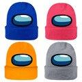 Популярная вязаная шапка в стиле игры среди нас, шапка в стиле хип-хоп, сохраняющая тепло подарок