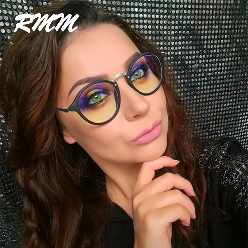 Wholesale Blue Light Glasses Frame Computer Glasses Spectacles Round Transparent Female Women's Eyeglasses Optical Frames Clear