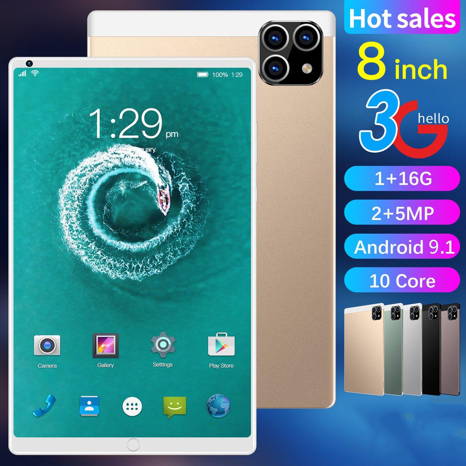 Планшет 8 дюймов 1 + 16G Android 9,1 планшеты с двумя Sim-картами планшетный ПК RAM1GB + ROM16GB 4000mAh планшет Android планшет
