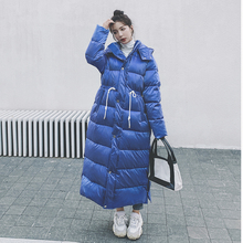 Female Coat Women Jacket Down-Hooded Overknee Warm Thick Korean Long Casual Solid Winter