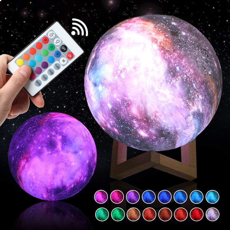 New Arrival Led Night Light 3D Print Star Moon Lam