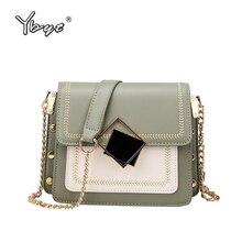 YBYT fashion chain women shoulder bag luxury handbags bags designer sequin decoration PU leather female crossbody flap