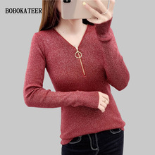 BOBOKATEER pullover sweater women pull femme hiver knitted christmas winter clothes turtleneck