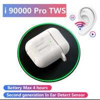 I90000 Pro Tws obsługuje najnowszy system ios13 1: 1 inteligentny czujnik bezprzewodowe słuchawki Bluetooth 1536U PK 1536P H1 W1chip i1000 i200