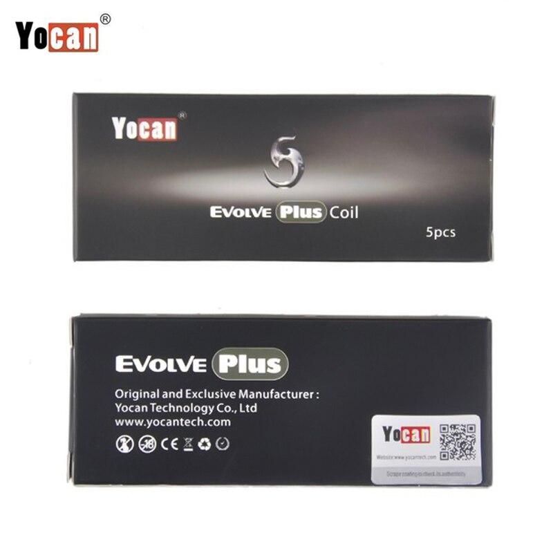 100 Original Yocan Evolve Plus Ceramic Quartz Dual Coil For Evolve Plus Wax Vaporizer Kit 5pcs lot in Electronic Cigarette Accessories from Consumer Electronics