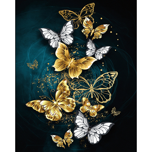 Full Square Drill Diamond Embroidery Butterfly Animals Full Square Drill Modern Wall Art Diamong Painting For Home Decor image