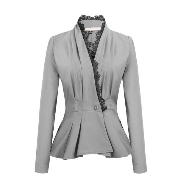 Suit Fashion Coat Long Sleeve V-neck Women Clothes Work Coat Outerwear Female Ladies Womens Tops Solid Color New Hot Sale 2019