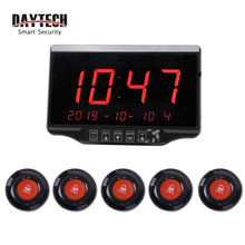 DAYTECH Waiter Calling System Wireless Queue Pagers Restaurant Coaster Pager number Calling system LCD Receiver Waterproof Call wireless calling system restaurant serving wireless restaurant remote waiter calling paging system 9pcs call transmitter