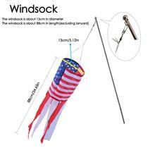 Парка Windsock, американский флаг Windsock вышитые с красочным принтом звезды полосы Windsock Американский нейлон украшения