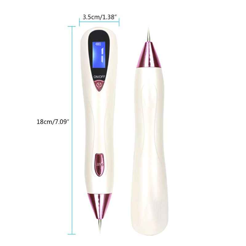 Skin Care Laser Mole Tattoo Freckle Removal Pen LCD Sweep Spot Mole Removing Wart Corns Dark Tag Remover Beauty Machine USB Rech
