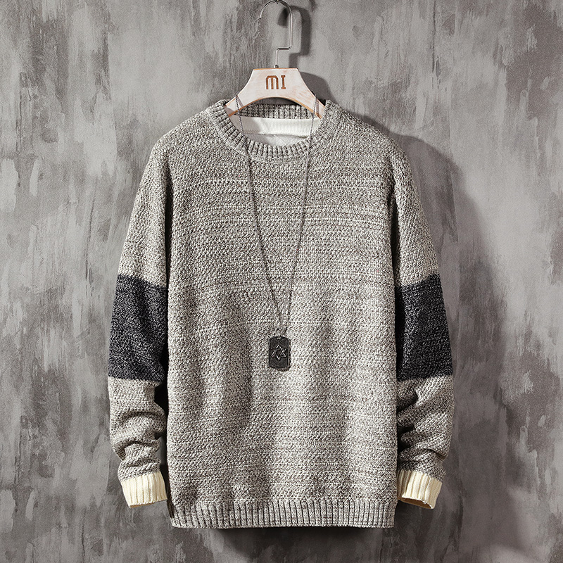 Мужской свитер с длинными рукавами, осенне зимний вязаный пуловер с круглым вырезом, большие Азиатские размеры 5XL, 2020|Джемперы |   | АлиЭкспресс - Мужской свитер