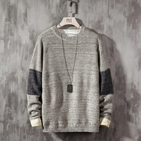 2019 New Sweater Men Long Sleeves Autumn Winter Pullover Knitted O Neck Plus Asian Size 5XL