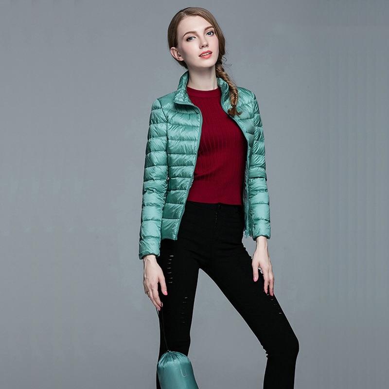 New Ultra Light Women Winter Parka Jacket Warm Coat Slim Light Ladies Jacket Portable Windproof