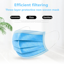 50pcs Disposable Protective Mask 3 Layers Dustproof  mascarillas respirator face Masks