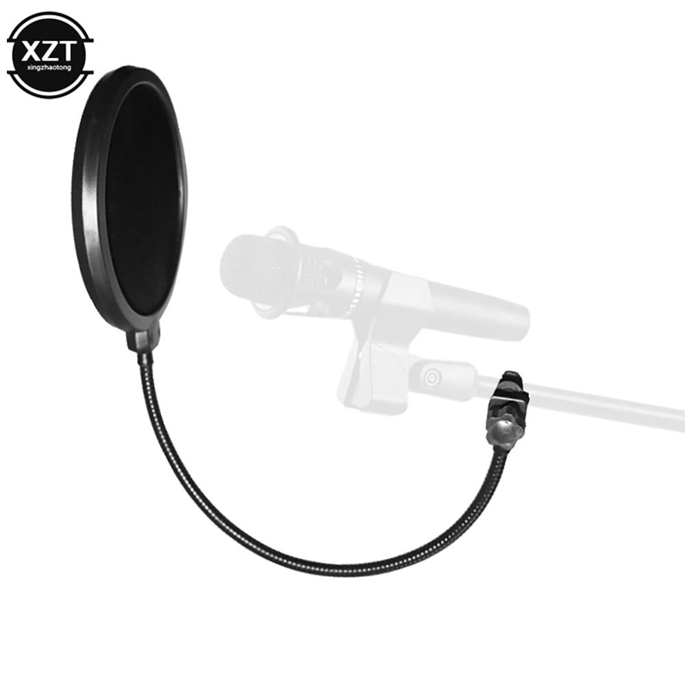 Прочный многослойный Студийный микрофон на ветровом стекле, Профессиональный Гибкий микрофон, поп-фильтр, двухслойный щит для записи разго...