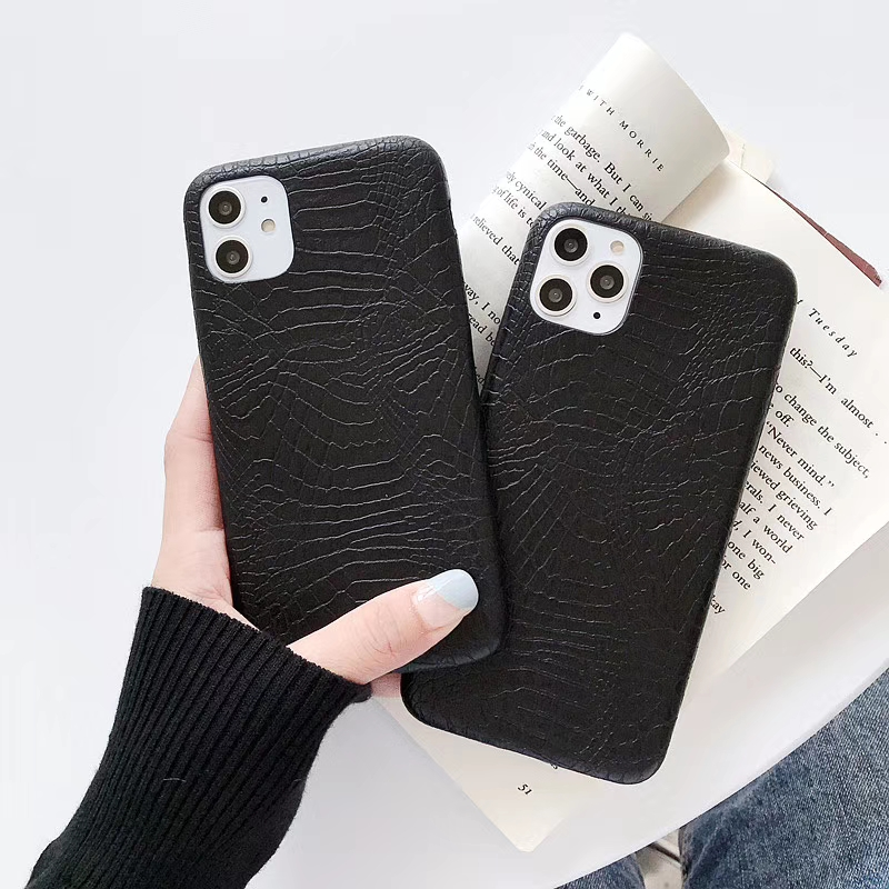 Leather Cover For iPhone 11 12pro max X XS MAX XR Case Crocodile Snake Skin Back Cover Case for iphone 6 6s 7 8Plus Phone Bags