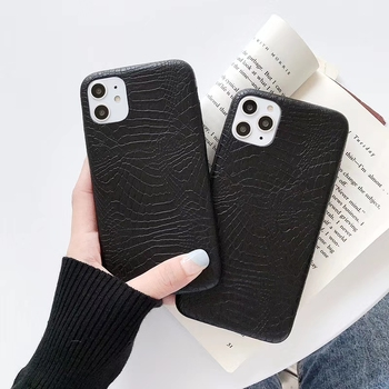 Leather Cover For iPhone 11 12pro max X XS MAX XR Case Crocodile Snake Skin Back Cover Case for iphone 6 6s 7 8Plus Phone Bags image