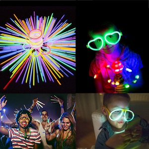 Fluorescence Light Glow Sticks DIY Bracelets Necklaces Concert Neon Glow Stick For Wedding Birthday Event Festive Party Supplies
