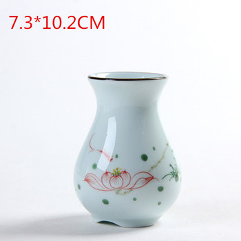 Modern Hyacinthus Orientalis Vase Decoration Living Room White Porcelain Small Fresh Dry Flower Flower Arrangement Creative Ceramic Flower M2873 image