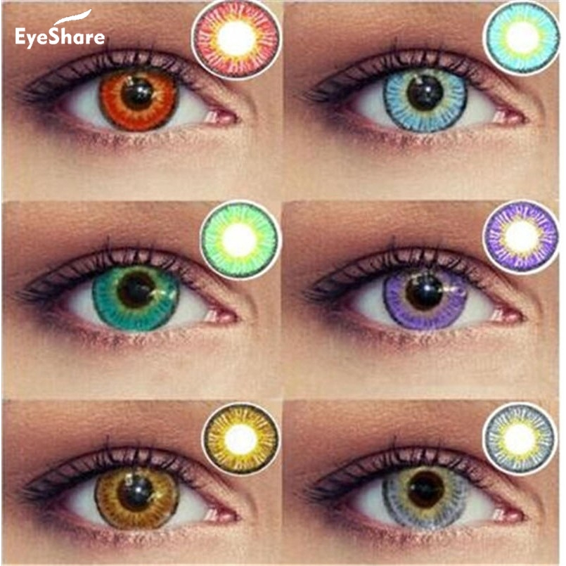 EYESHARE 1 Pair (2pcs)  IceSnow Coloured Contact Lenses For Eyes Cosmetic Contact Lenses  Eye Color Halloween Contacts