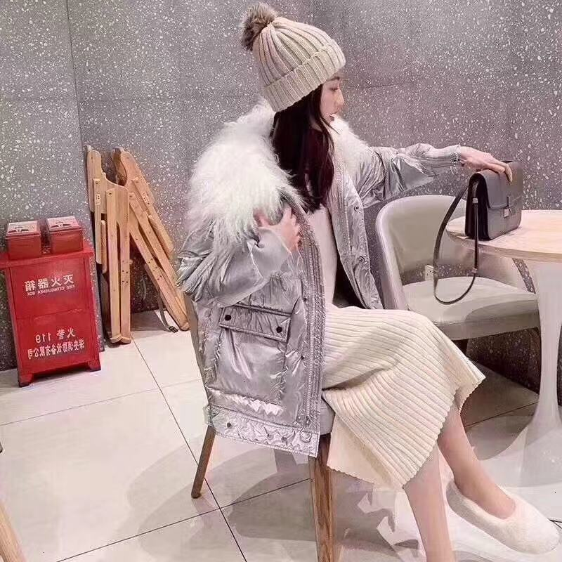 Tan Hair   Down   Jackets Girls Long Fund Removable Easy Thickening Loose   Coat   Back Tide Season