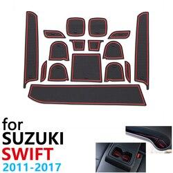 Anti-Slip Rubber Cup Kussen Deur Groef Mat voor Suzuki Swift Maruti DZire Sport ZC72S ZC82S ZC32S 2011 ~ 2017 Auto Accessoires