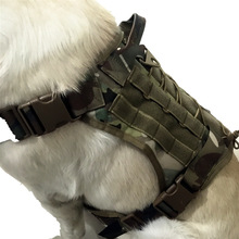 Military Tactical Dog Harness Pet Dog Vest  Waterproof Dog Vest Tactical Training Camo Dog Clothes for Small Large Dogs Puppy