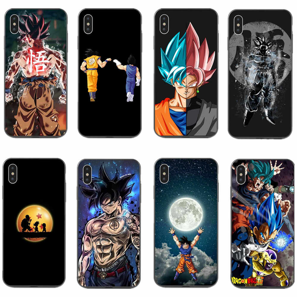Nóng Dragon Ball Z Siêu Dbz Goku Saiyan Vegeta DBs Mềm Mại Ốp Lưng Dành Cho iPhone 6 6S Plus 7 7plus 8 8 Plus X 5 5S SE XS Max XR