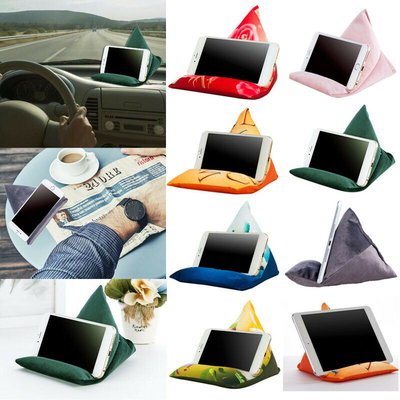 Soft Triangle Pillow Laptop Holder Tablet Pillow Foam Lapdesk for Phone iPad Tablet Stand Holder Reading Stand Lap Rest Cushion