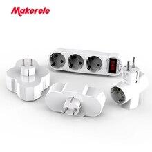 Conversion Socket EU Standard ABS 16A AC 110v-250v Power Adapter extension converter