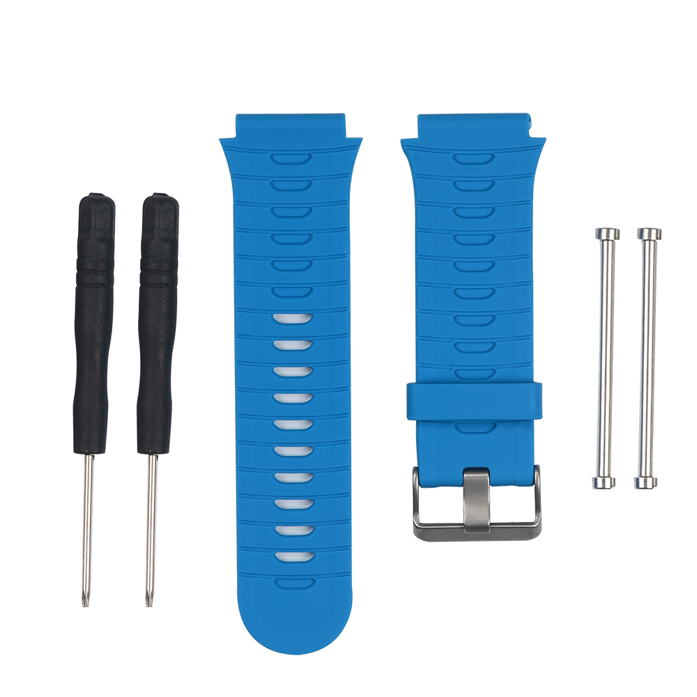 Multi-color Smart Watch Accessories Replacement Silicone Watch Strap WristStrap Smartwatch Wristband For Garmin Forerunner 920XT image