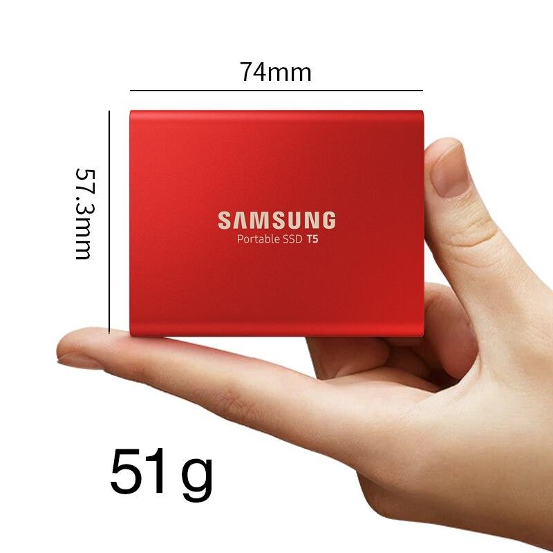 Samsung T5 SSD portátil 250GB 500GB 1TB 2TB USB3.1 unidades de estado sólido externo USB 3,1 Gen2 y compatible con atrás para PC - 2