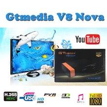 Satellite decoder DVB-S2 freesat V8 Full HD 1080P H.265 GTMEDIA Nova support cccam lines spain satellite receiver youtube