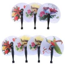 Handheld Fan Paper-Decorative Flower Chinese-Pocket Folding Round Printed 1 1PC Gift-Random