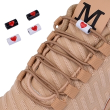 Новый эластичный без галстука шнурки круглые шнурки пряжки металла любят дети взрослые быстрые ленивый кроссовки обувь кружева шнурки 25 цветов
