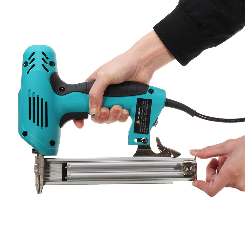 220V 1800W Electric Staple F30 Single Straight Nail Gun 10 30mm Special Use 30/min Woodworking Tool Straight Gas Nail Gun-in Nail Guns from Tools on