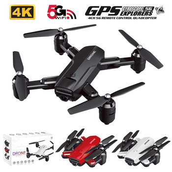 JTY 4K GPS RC Quadcopter With HD Camera Portable Brushless RC Drone Helicopter With Double Camera Auto Return Remote Drones