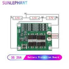 25A 3 S Lithium Polymer Batterie 18650 Ladegerät PCB BMS Schutz Bord 3 Serielle 12V 3,7 Lipo Li Ion Lade schutz Modul