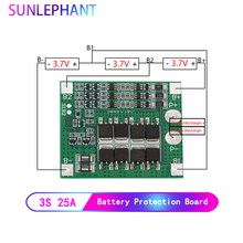 25A 3S Polymer Lithium Battery 18650 Charger PCB BMS Protection Board 3 Serial 12V 3.7 Lipo Li ion Charging Protection Module