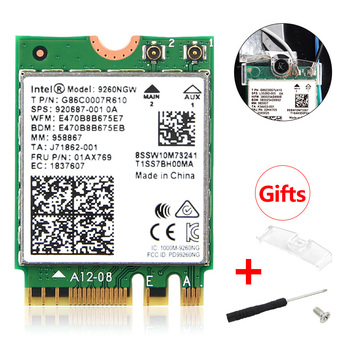 1.73Gbps Wireless 9260NGW NGFF Network Wifi Card For Intel ac 9260 2.4G/5Ghz 802.11ac Wi-fi Bluetooth 5.0 for Laptop Windows 10 1